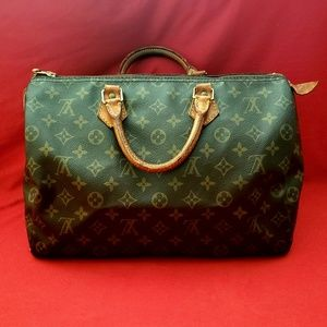 Louis Vuitton Speedy 35 Monogram Canvas Handbag